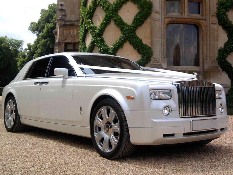Pearl White Rolls Royce